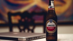 Amstel-Light-Beer-and-MacBook-Laptop
